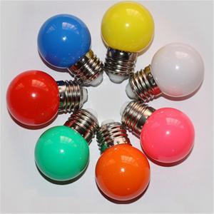 China G45 Multicolor LED bulbs e27 b22 LED light 12V or 24v or 110v or 220v Texture of material PC on sale