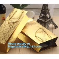 Wholesale LUXURY PAPER CARRIER SHOPPING BAGS, LUXURY PAPER BAGS, LUXURY SHOPPING BAGS, KRAFT PAPER WINE BAG from china suppliers