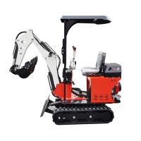 Wholesale 0.8Ton earth-moving Machinery 1ton mini excavator green mini digger PC08 from china suppliers