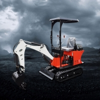 Buy cheap 0.8Ton earth-moving Machinery 1ton mini excavator green mini digger PC08 from wholesalers