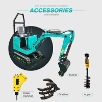 Wholesale 1000kg hydraulic mini excavator with competitive prices EPA engine for USA MARKET Anti-rolling bracket from china suppliers