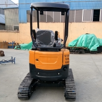 Wholesale 3 cylinder engine digger fullmetal hydraulic crawler small mining excavator HT20 from china suppliers