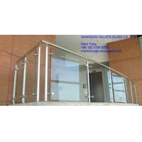 China Professional Toughened Safety Panels 10mm 12mm Toughened Balcony Glass on sale