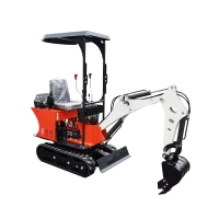Wholesale 0.8 ton crawler small digger mini towable backhoe hydraulic excavator from china suppliers
