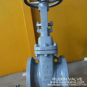 China ANSI / API 600/DIN/GOST WCB Gate Valve Cast Steel RF Flange with Wheel Gear Worm on sale