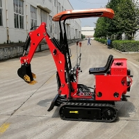Buy cheap small digger HT08 digging machine mini excavator with roof from wholesalers