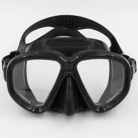 Wholesale Black Silicone Free Diving Goggles Tempered Glasses CE Certificate from china suppliers