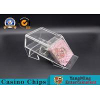 Wholesale Durable 1 Deck Casino Card Shoe , Black Or Clear Color Gambling Dedicated Acrylic Shoes from china suppliers