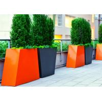Wholesale Trapezoid Couple Tall Stainless Steel Planters For Outdoor Decoration from china suppliers