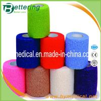 Wholesale Latex free Glue non woven compression bandage coflex bandage self adhesive bandage from china suppliers