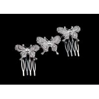 Butterfly Hair Comb Rhinestone Butterfly Rhinestone Jewelry Crystal Hair Comb HB0039 for sale
