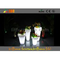 Wholesale Remote control LED lighting planter / LED Flower Pot with lithium battery from china suppliers