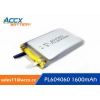 Wholesale li batteries PL 604060 3.7V 1600mAh lipo battery for led, power bank from china suppliers