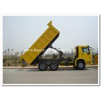 Wholesale Sinotruk HOWO 340HP Heavy Duty Dump Truck Yellow for Construction / Mine Working from china suppliers