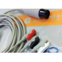 Wholesale Generic AAMI 6 Pin One Piece ECG Patient Cable 3 Leads For Patient Monitoring Equipment from china suppliers