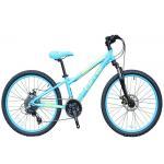 China 24 Inch Lightweight Childrens Bikes 3 X 8 Speed Mechanic Dual Disc Brake for sale