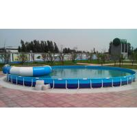 Quality Family Entertainment Metal Framed Swimming Pools Round Custom Made for sale