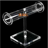 Wholesale T Bar 7 Shaped Acrylic Jewelry Bracelet Display Promotion Holder from china suppliers