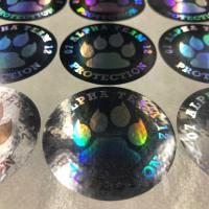 China Durable Laser Sticker Custom Hologram Sticker Color Laser Warning Sticker on sale
