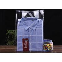 China 200*300MM+30MM Retailing Clear Plastic OPP Bag / Cloth Self Adhesive Bag for sale