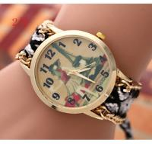 Buy cheap HOt Sale! New Brand GENEVA Watch Handmade Braided Friendship Bracelet Watch Ladies Quarzt Watches relogio feminino from wholesalers