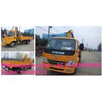 China China best price T-KING 4*2 2.5Tons cargo truck with crane for sale, factory direct sale price dump ttruck mounted crane for sale