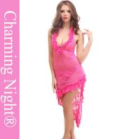Wholesale Erotic Ladies Elastic Lace Sexy Long Lingerie Transparent long sheer nightgowns from china suppliers