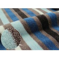 Wholesale Multi Colored Stripe Printed Coral Fleece Fabric Double Sided from china suppliers