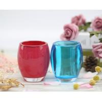 China Customized Logo Room Scented Candles Oval Glass Jar Customized Fragrance for sale