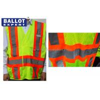 Wholesale Green Reflective Safety Vest Uniforms Clothing For Construction / Night Riding from china suppliers