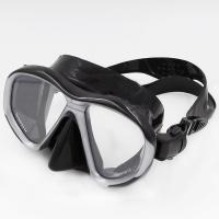 Wholesale Low Volume Silicone Adult Black Dive Mask with PC Frame and Siliocne Skirt from china suppliers