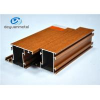 Wholesale Nature Color Wood Grain Aluminium Extrusions / Aluminum Framing System SGS from china suppliers