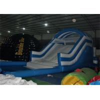 Wholesale 0.55mm PVC Blue Mini Children Commercial Inflatable Slide With Pool EN14960 from china suppliers