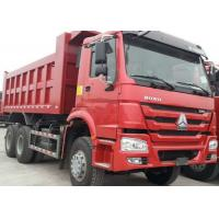Buy cheap 40t SINOTRUK HOWO Red heavy dump truck with 336hp euro ii emission standard from wholesalers