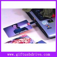 Wholesale OEM colors printing and super thin USB card full capacity 4G,8G,16G from china suppliers