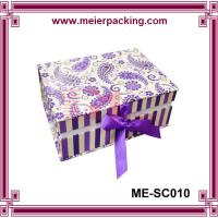 Wholesale custom fancy recycle clamshell paper jewelry box ME-SC010 from china suppliers