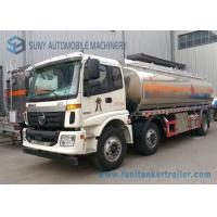 Wholesale Foton 21000L Oil Tank Trailer , 6 * 2 Carbon Steel Diesel Tank Trailer from china suppliers