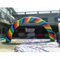 Wholesale Colorful Advertising Inflatable Finish Line Arch With Logo Printing from china suppliers