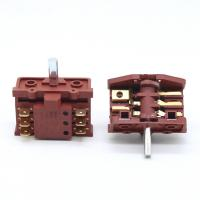 China Knob 6 Pins 2 Position Rotary Switch For Oven  Stove 250V 16A Brass Terminal on sale