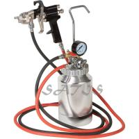 Quality 3 bar Pneumatic Tool 2ltr Pressure Tank with Air Regulator Paint Pot Spray Gun for sale