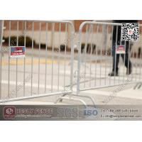 Wholesale 1.1 X 2.2m Briadge Feet Crowd Barrier (China Factory)   Galvanised Steel Pedestrian Barricade from china suppliers