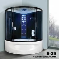China Luxurious functional steam shower cabin with Tub 1500*1500mm Steam Room for sale