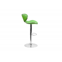 China Soft Modern Green Bar Stools with Electroplate Metal Legs on sale