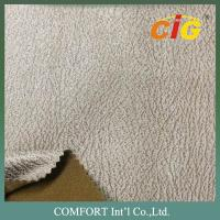 China Bronze Suede Fabric Sofa Upholstery Fabric For Chairs / Cushions / Car Seat on sale