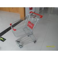 Wholesale Normal Grocery Store Wire Shopping Trolley with 4 swivel 4 inch PU wheels from china suppliers
