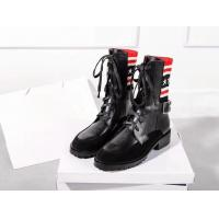 Wholesale Leather boots for Women patchwork martin boots casual lace-up shoes low heel round toes leather boots with patchwork from china suppliers