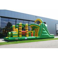 Wholesale Plato PVC Green Rent Inflatable Obstacle Course Backyard Inflatable Outdoor Play Equipment from china suppliers