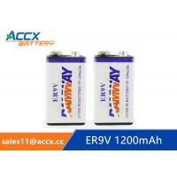 Wholesale 9V battery 1200mAh smoke detector battery, fire detector battery, long self life 10 years from china suppliers