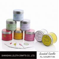 Wholesale 200g Soy Wax Scented Tin Candles 7.5cm*7cm With Liden Flower / Patchouli Fragrance from china suppliers
