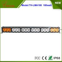 Buy cheap 14400lm  32.6 inch amber and white color cover 180w single stack off-road led light bar from wholesalers